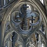 Details im oberen Bereich des Doms zu Köln