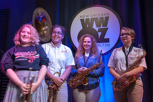 Riverdale High School on School Groove at WWOZ - Aug. 29, 2018. Photo by Michael E. McAndrew.