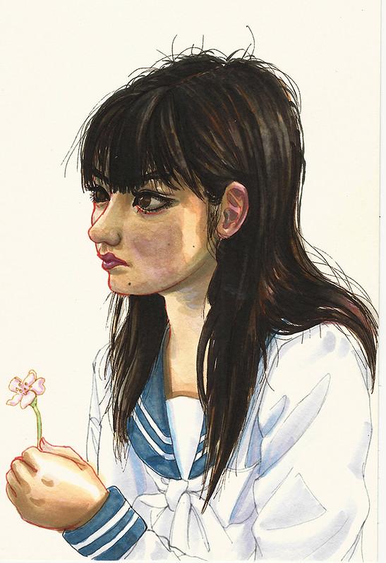 Sayumi Michishige 1st attempt Stabilo pens resize