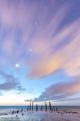 2018 canon portwilungajettypoles sunset wallpaper silhouette south australia venus streaky clouds collective water beach sea