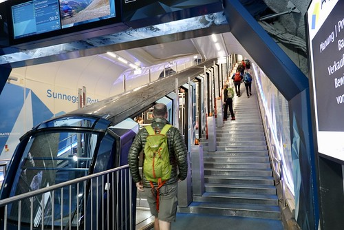 Up the underground funicular to Sunnegga station | by danlmarmot