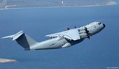 Royal Air Force Airbus Military A400M Atlas C1 ZM408 departing RAF Gibraltar