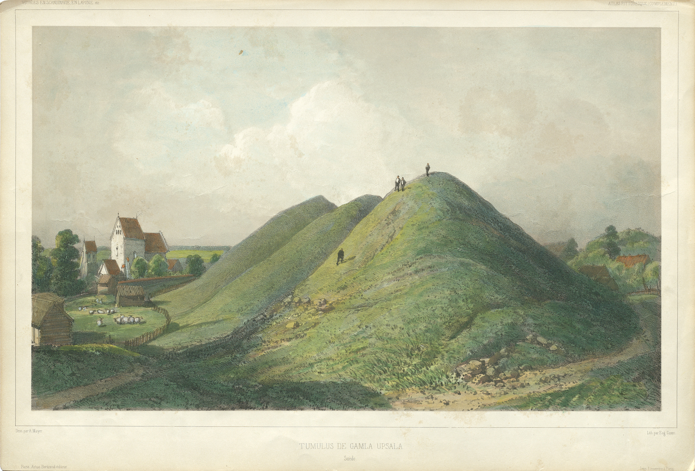 The Royal Mounds, Gamla Uppsala (Old Uppsala), Uppland, Sweden