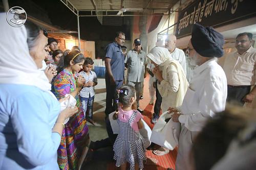 Devotees seeking blessings at Sant Nirankari Satsang Bhawan