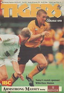 Hull V Carlisle 9th December 1995 | by cumbriangroundhopper