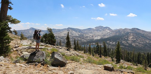 1161 Mount Tallac, far left, and Dicks Peak, right of center, from the Tahoe-Yosemite Trail below Phipps Peak | by _JFR_