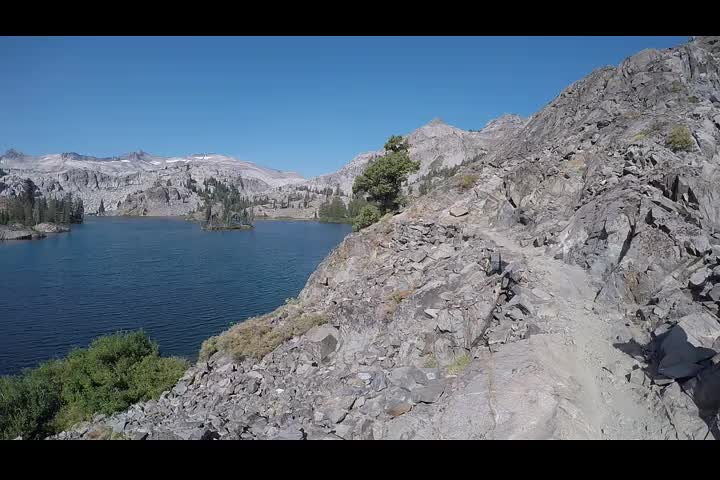 2841 GoPro panorama video of Heather Lake from the Pacific Crest Trail