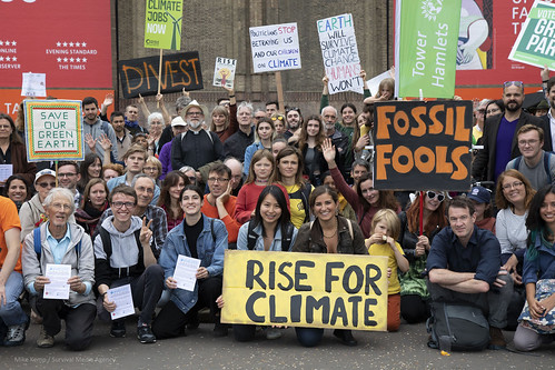 Rise For Climate Change Action in London
