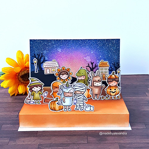 Halloween card - Floating floors | by made by Alexandra