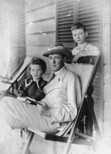 queensland statelibraryofqueensland fathers father dads fathersday sons governorofqueensland books reading deckchair boys