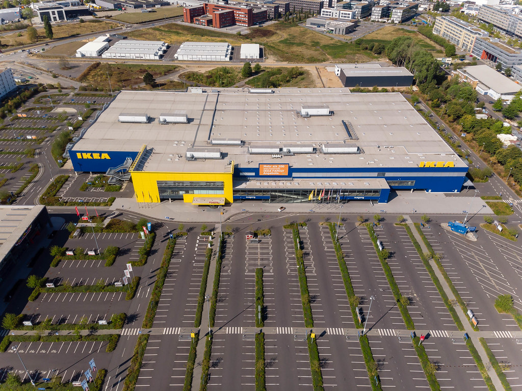 Ikea Store And Parking Lot In Cologne Aerial Photography Flickr