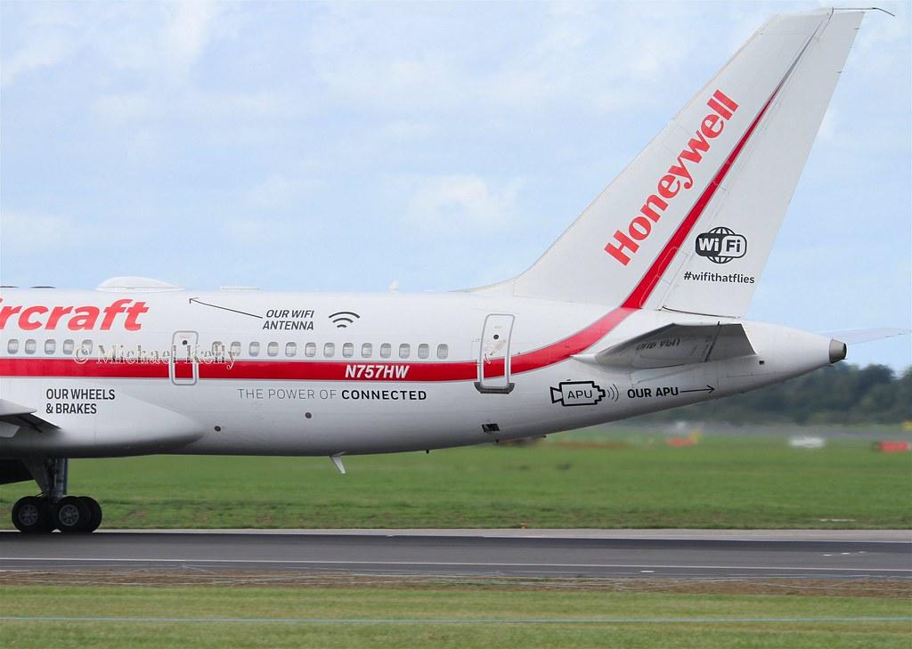 Honeywell Boeing 757 N757HW   23rd August 2018 , Dublin Airp