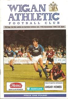 Wigan Athletic V Carlisle United 17-11-1990 | by cumbriangroundhopper