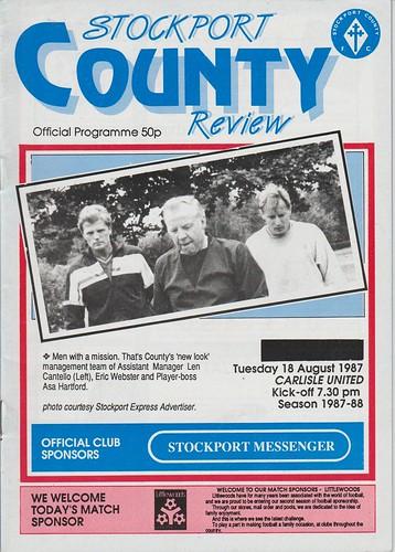 Stockport County V Carlisle United 18-8-87   by cumbriangroundhopper