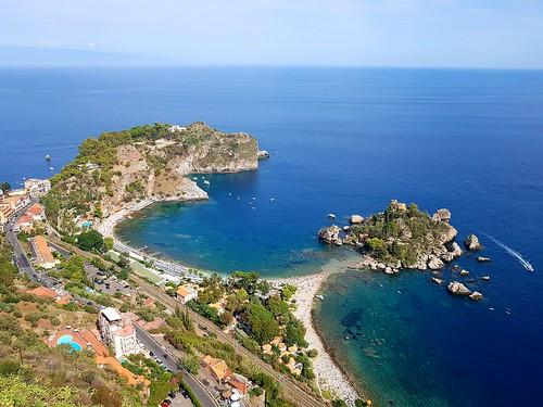 taormina beach isolabella view sea italia italy itália