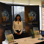 Gisele Carriere at the Statistics Canada booth at IPDLN 2018.