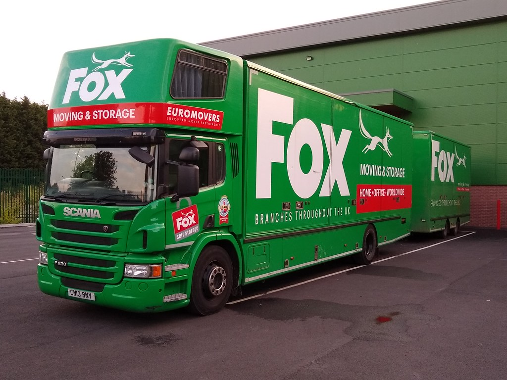 Fox Group (Moving and Storage) Ltd Scania P230 Removal Lor