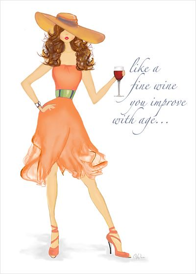 Quotes About Birthday Fine Wine Card
