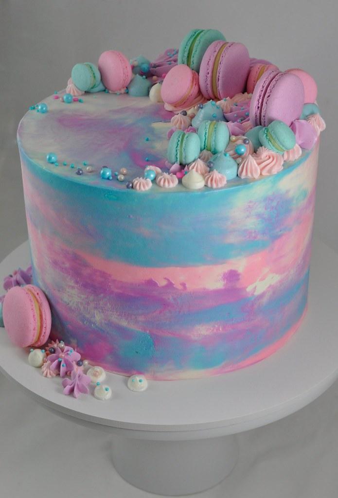 Marble Buttercream Macaron Cake A Photo On Flickriver