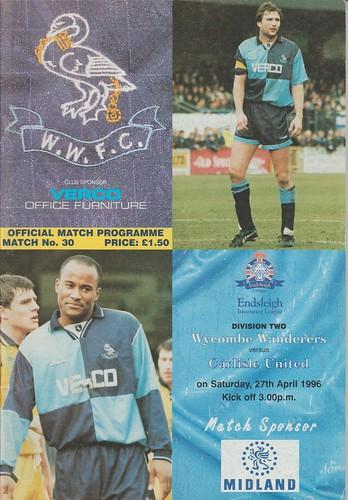 60.Wycombe V Carlisle 27-4-96 | by cumbriangroundhopper