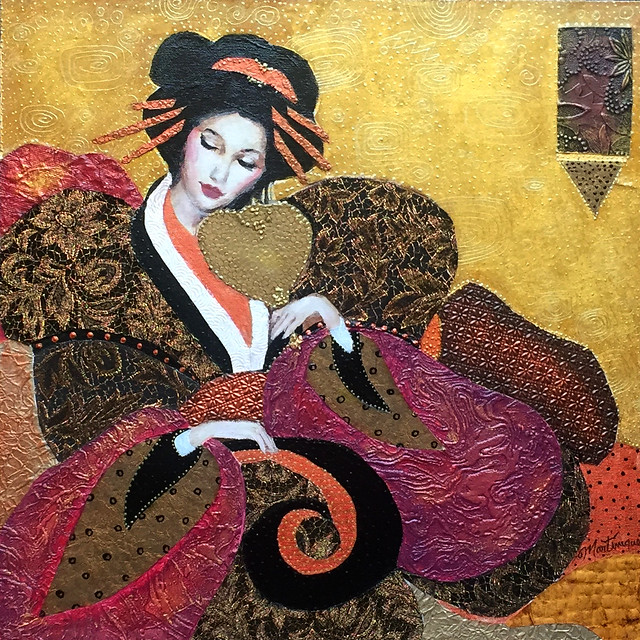Painting of a Japanese Geisha
