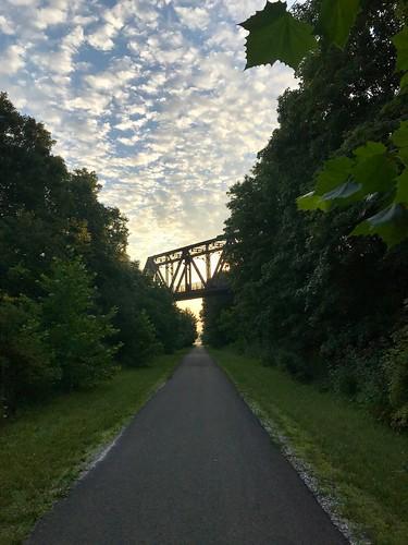 sunrise dusk trail rail panhandle montour bridge forest line straight top252018runnerups
