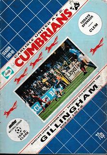 Carlisle United V Gillingham 23-9-89 | by cumbriangroundhopper