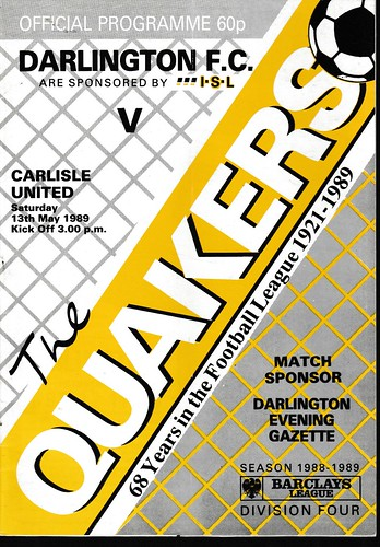 Darlington V Carlisle 13-5-89 | by cumbriangroundhopper