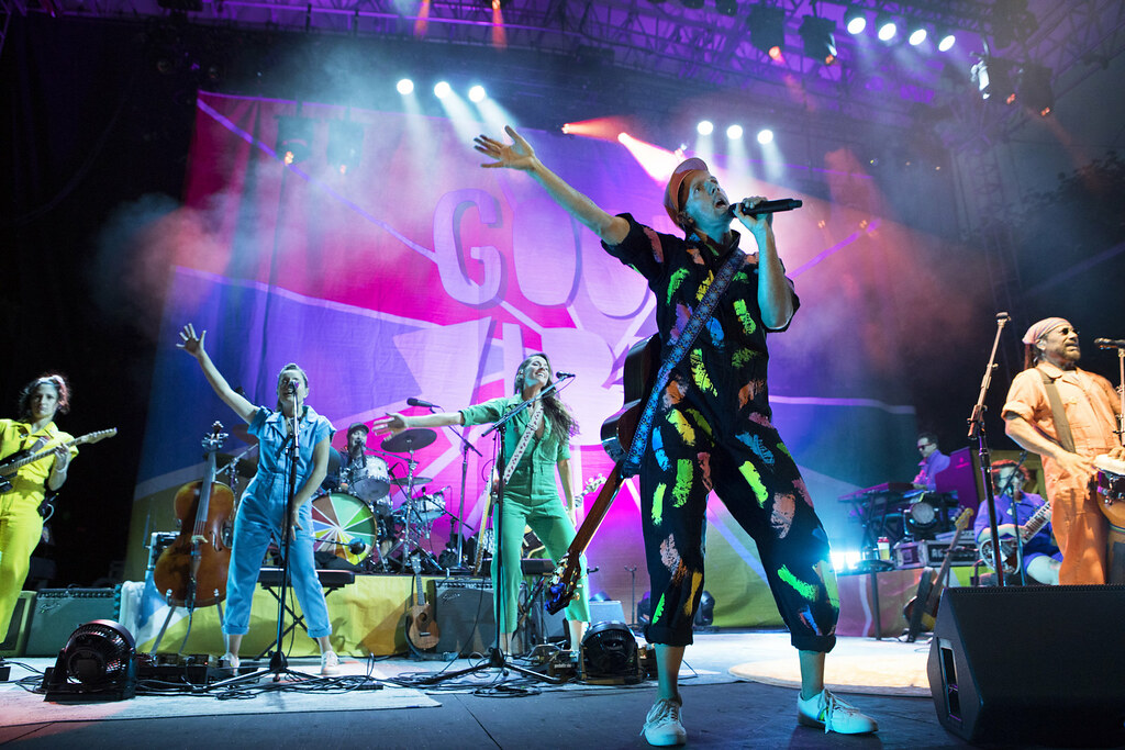 Colorful Digitally Printed Drapes Perfectly Compliment Tour's Upbeat