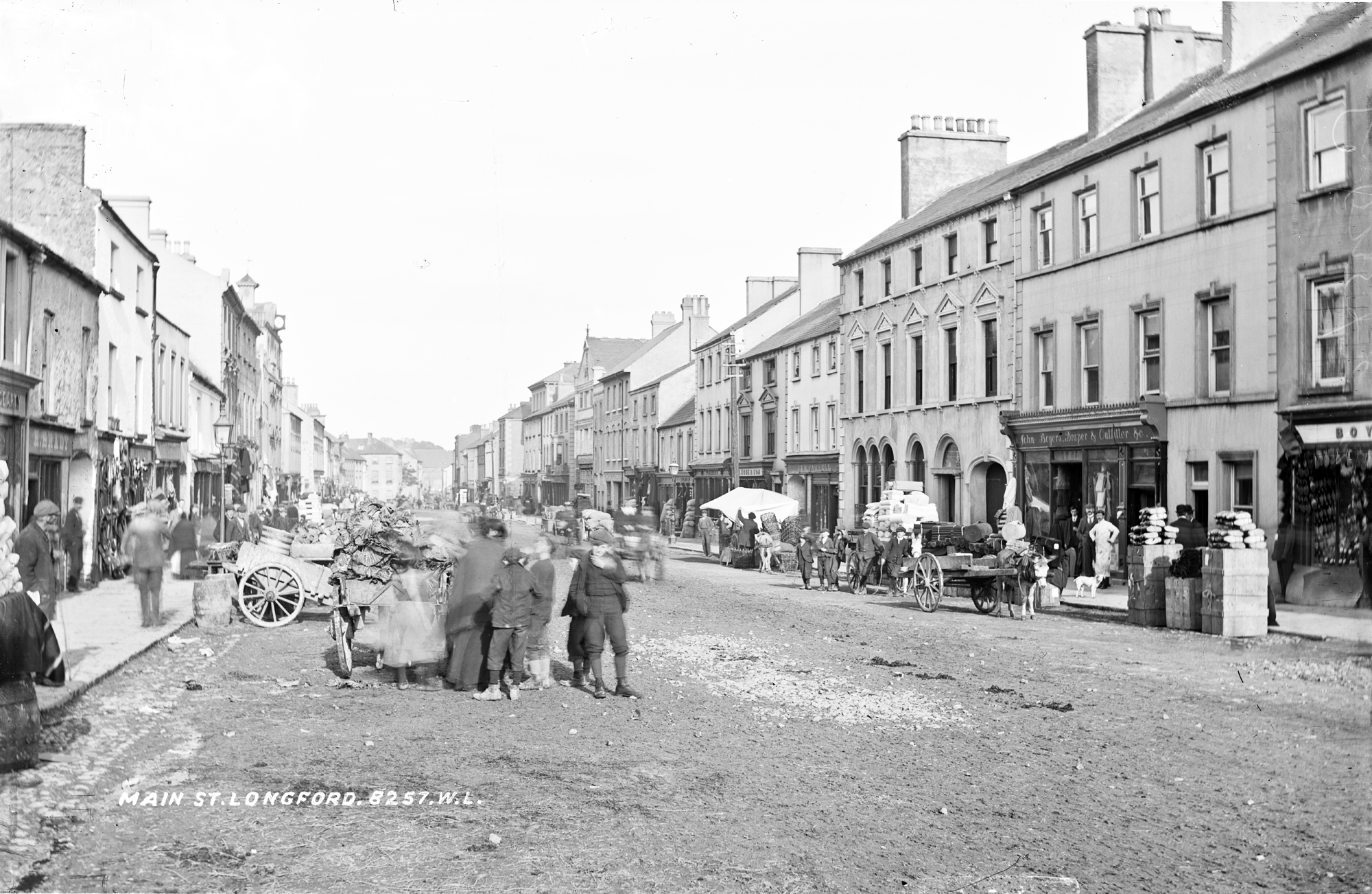 Main Street, Longford on a market day