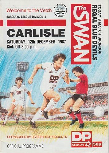 Swansea City V Carlisle United 12-12-87 | by cumbriangroundhopper