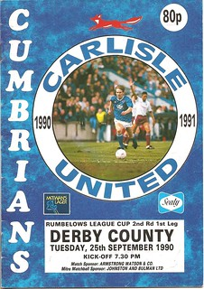 Carlisle United V Derby County 25-9-90 | by cumbriangroundhopper