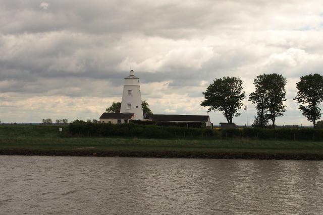 Peter Scott's Lighthouse beside the river Nene