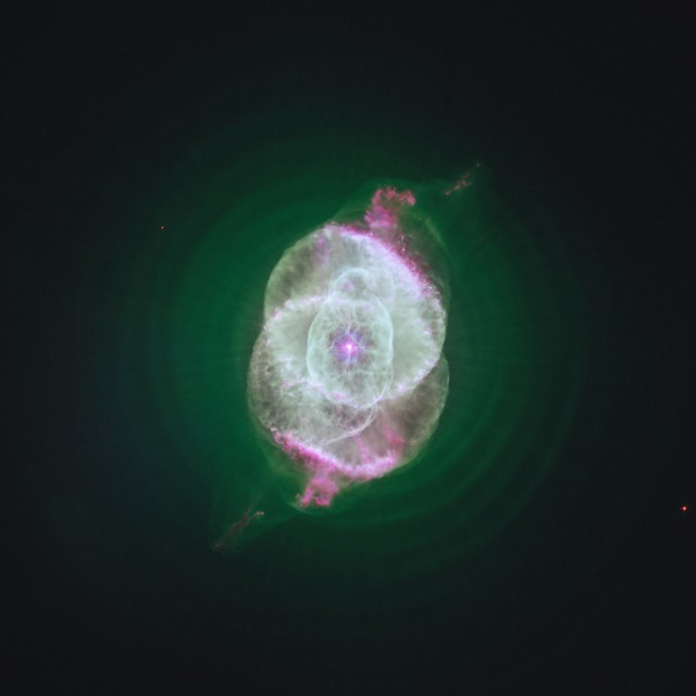 A Green Cat's Eye Nebula