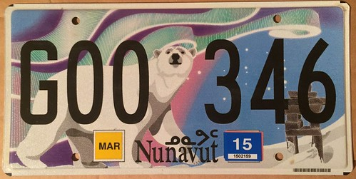 NUNAVUT 2015 ---GOVERNMENT LICENSE PLATE | by woody1778a