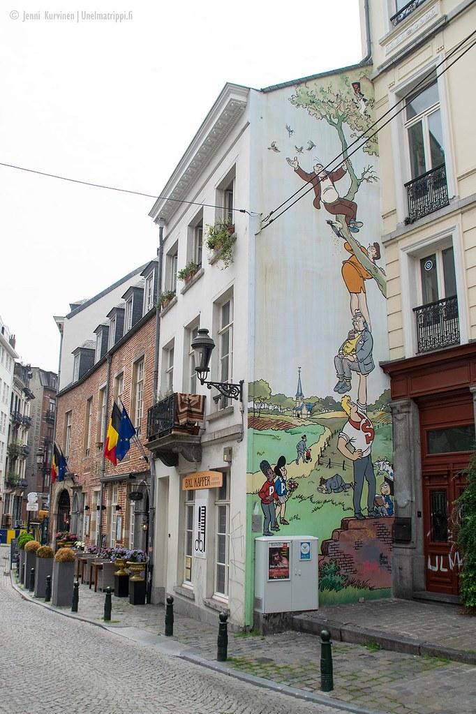 Sarjakuvamuraali Brysselissä