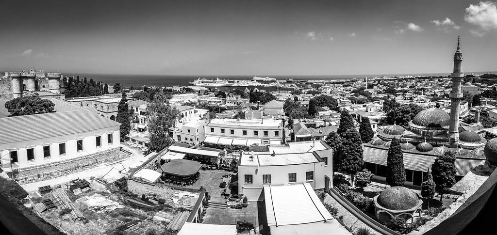 Rhodos Stadt von oben