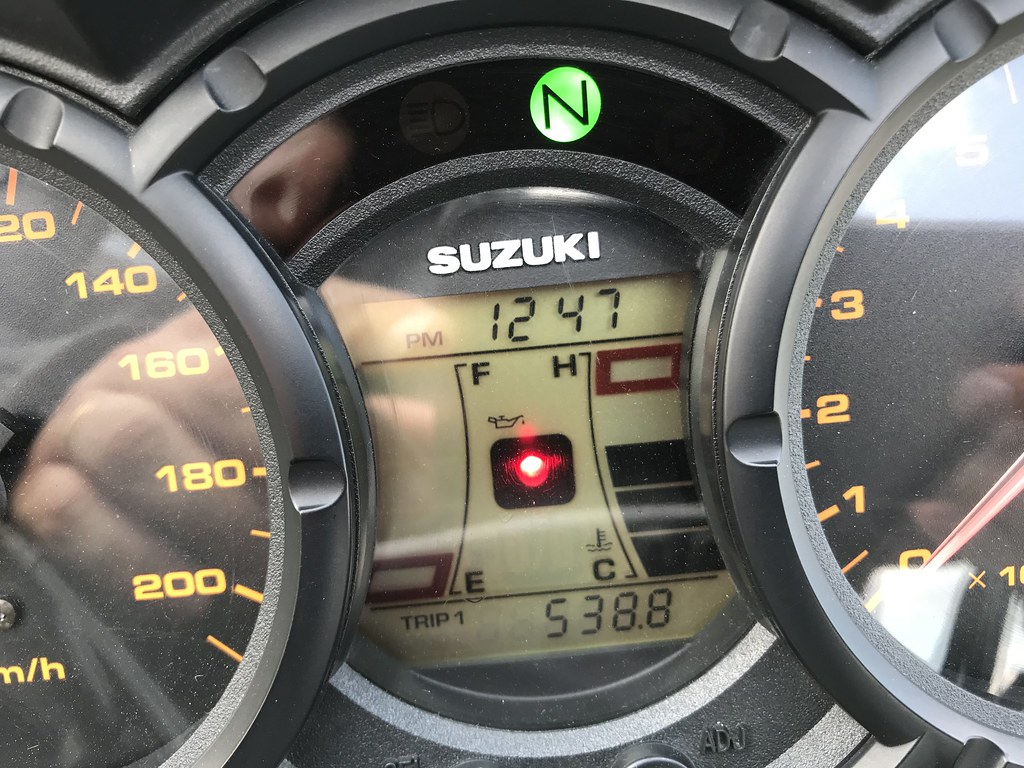 538,8 km avant la panne sèche sur une moto de 2004 et un réservoir de 22 L