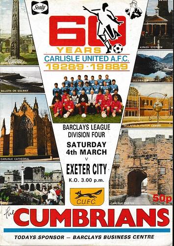 Carlisle United V Exeter City 4-3-89 | by cumbriangroundhopper