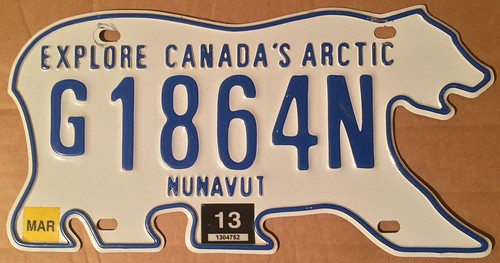 NUNAVUT 2013 ---GOVERNMENT VEHICLE PLATE | by woody1778a