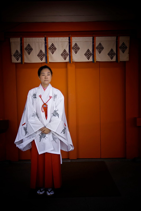 An Usher At A Shinto Shrine In Urawa, Japan