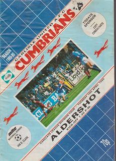 Carlisle United V Aldershot 10-4-90   by cumbriangroundhopper