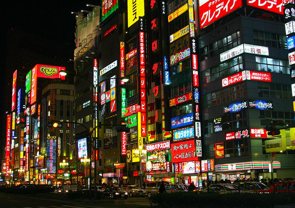 Neon lights in Shinjuku, Kanto region, Tokyo, Japan   Flickr
