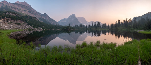 Smoky sunset. Williams Lake