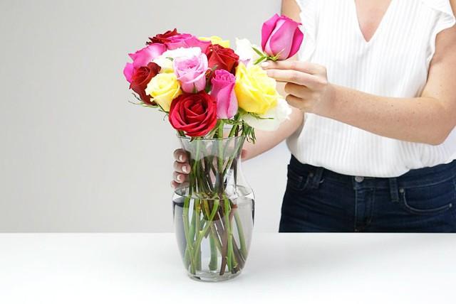 Vasing Roses