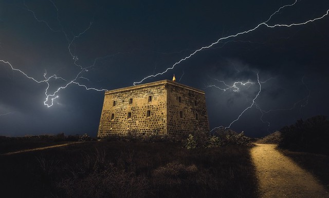 Storm over the fort
