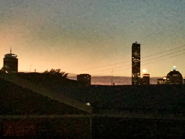 Boston - Sunset Skyline.