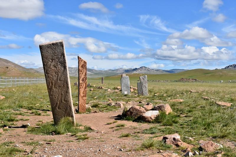 Deer stone, Bronze Age; Uushigiin Uveer, near Moron, northern Mongolia (30)