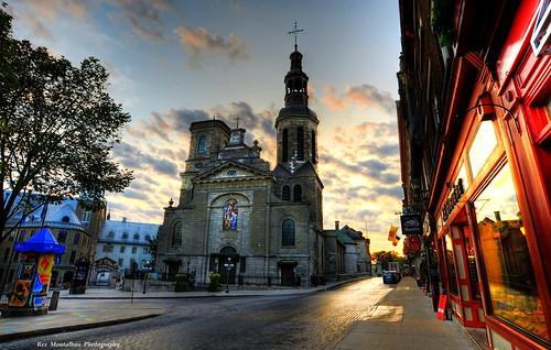 rexmontalbanphotography quebeccity notredamecathedral sunrise church