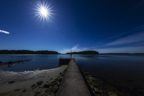 canon canon5dsr landscape seascape sky blue sun sunburst jetty espoo finland outdoors water